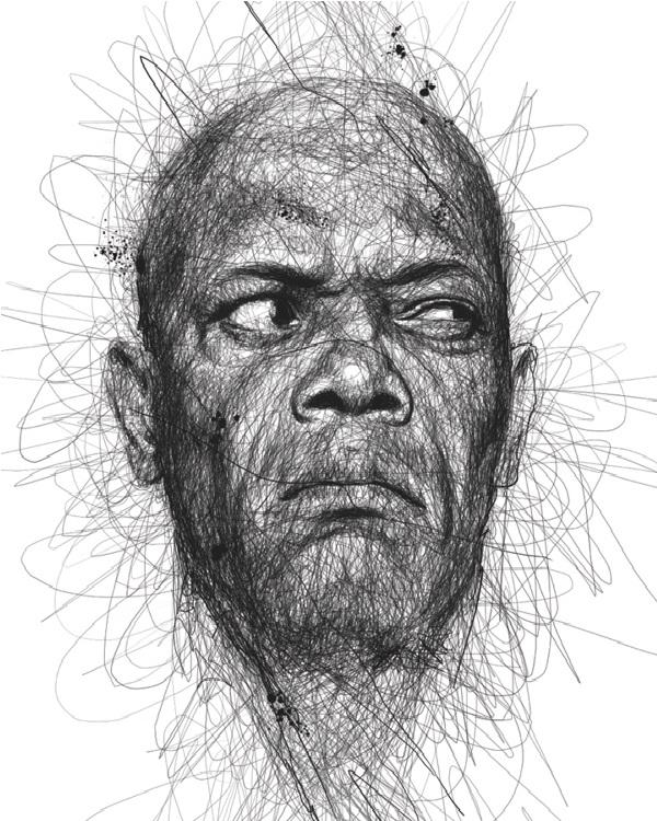 Samuel L. Jackson-Mind Blowing Pencil Art