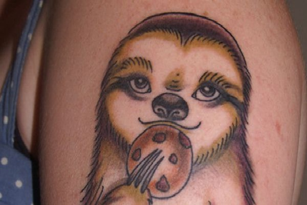 The sloth-Wackiest Internet Inspired Tattoos