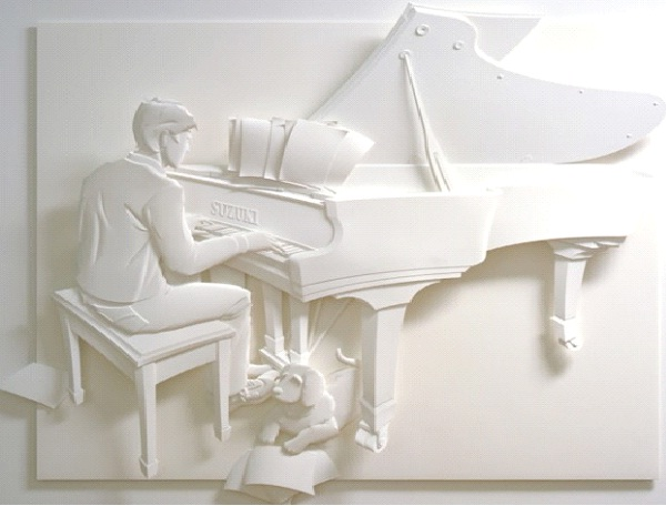 Piano Man-Most Amazing Paper Sculptures