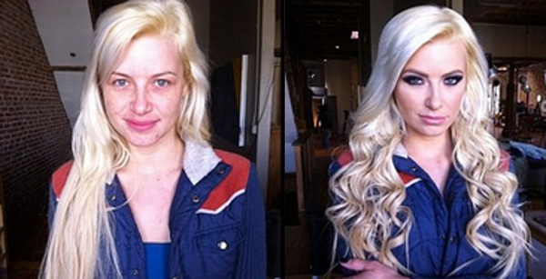 Anikka Albrite-Pornstars With And Without Make Up