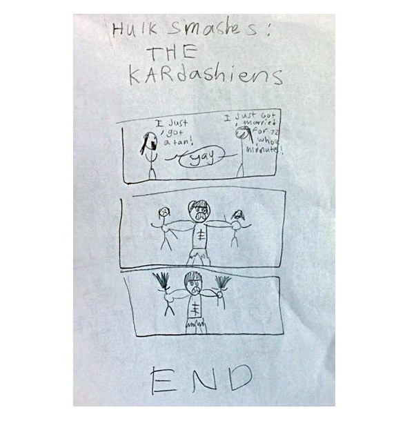 Kardashians-12 Most Disturbing Drawings By Kids