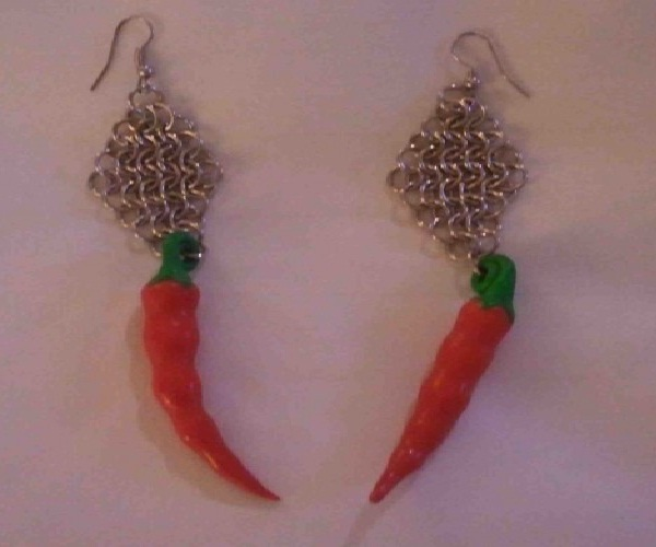 Red hot-Weirdest Earrings Ever