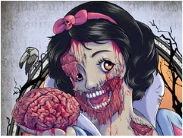 Snow White Zombie-Zombified Faces Of Famous Cartoons