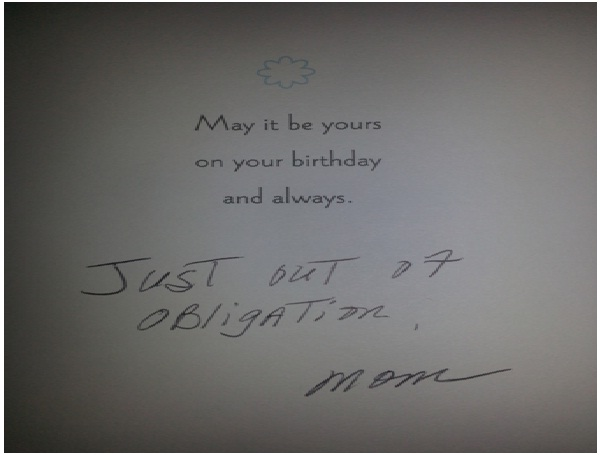 Obligated Birthday Wishes-Absolutely Hilarious Parental Notes