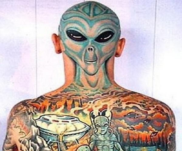 Alien-Full Body Tattoos