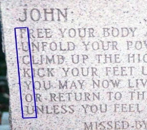 Spelling-Funny Tombstone Epitaphs
