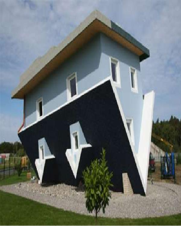 Upside down?-Weirdest Houses In The World
