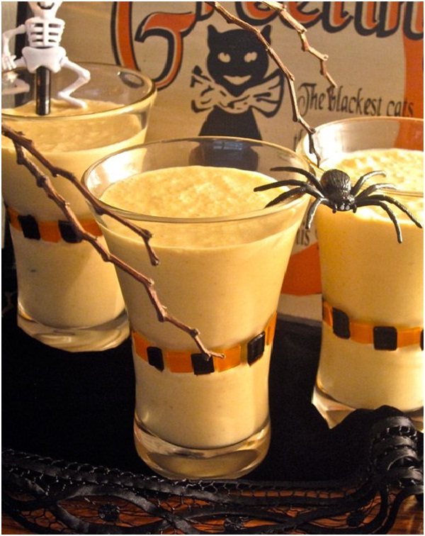 Spiked Pumpkin Milkshakes-Delicious Halloween Recipes