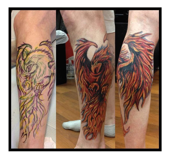 3 in one-Amazing Looking Phoenix Tattoos