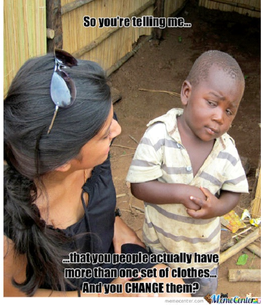 On Changing Clothes-12 Best Skeptical Third World Kid Memes Ever