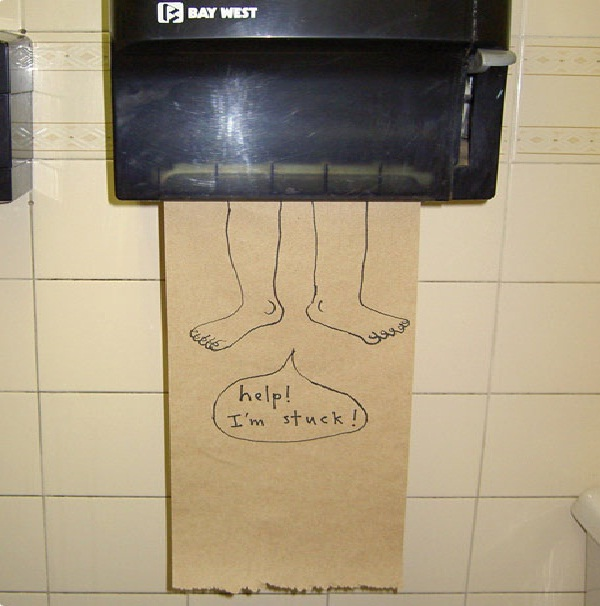 Get him out!-Funniest Toilet Graffiti