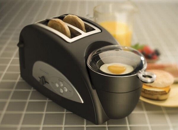 Egg cooker and toaster-Inventions That Make Breakfast Fun