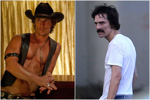 Matthew McConaughey as Ron Woodroof in Dallas Buyers Club-Celebrities From One Movie Role To Another