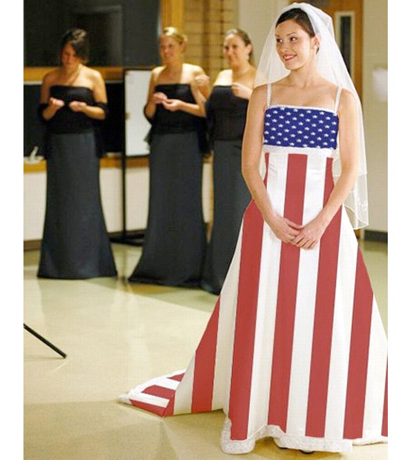 Flag Dress-Weirdest Dresses