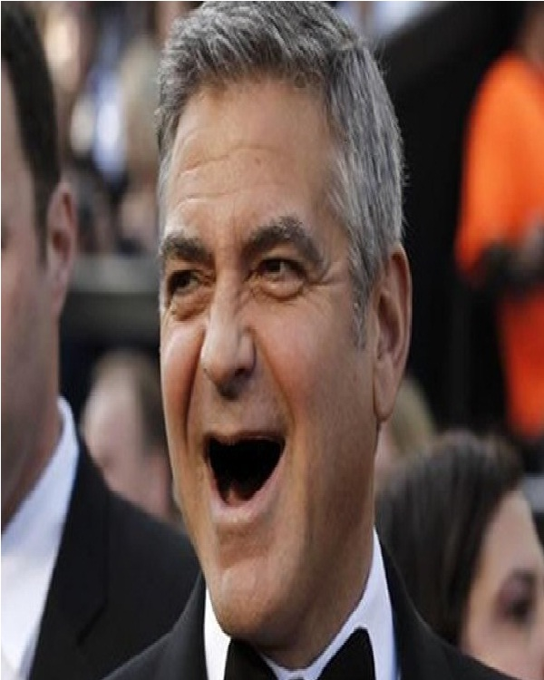 George Clooney-Celebs Without Teeth