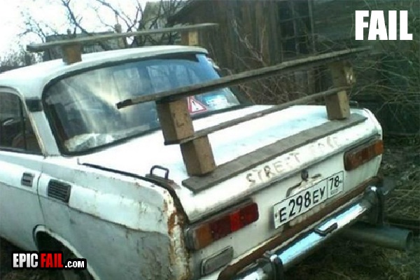 Wood doesn't count-Car Modification Fails