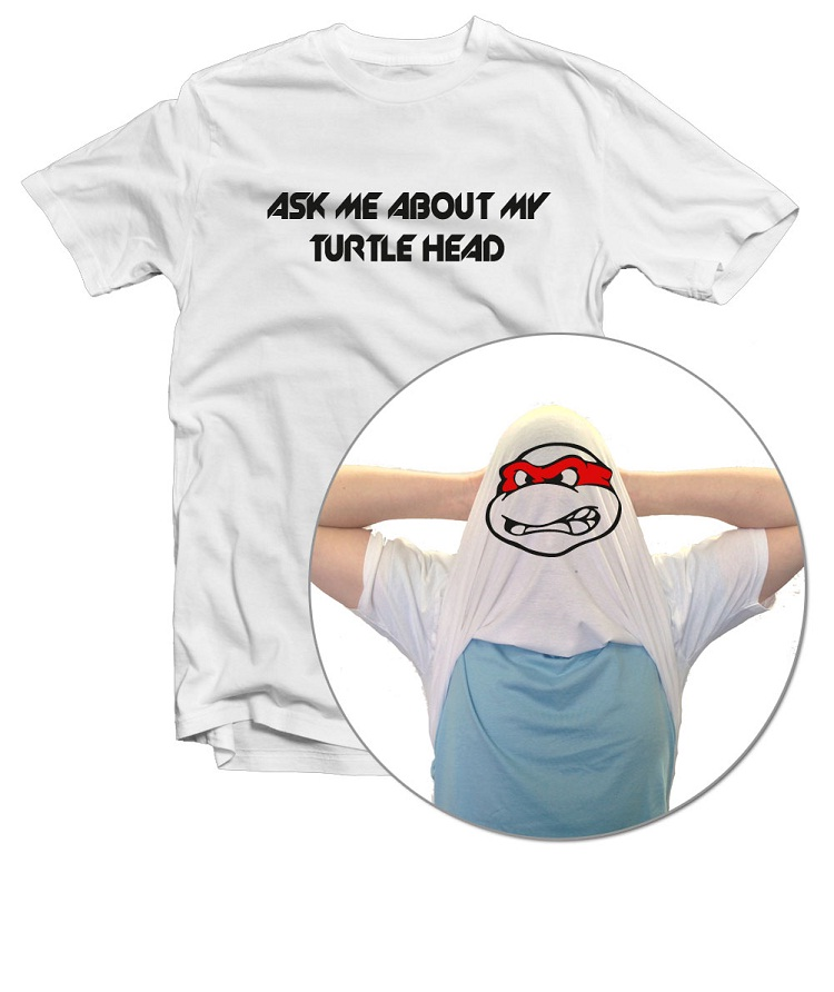 Nice turtle head-Best Inside Out T Shirt Designs