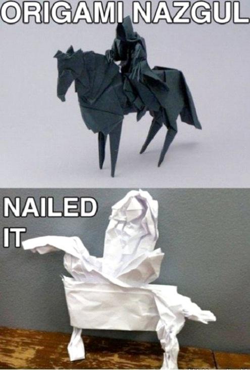Origami fail-Hilarious Pinterest Fails