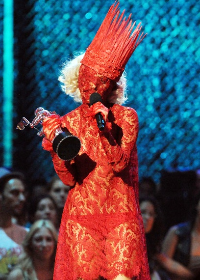 Lady in red-Worst Lady Gaga Outfits