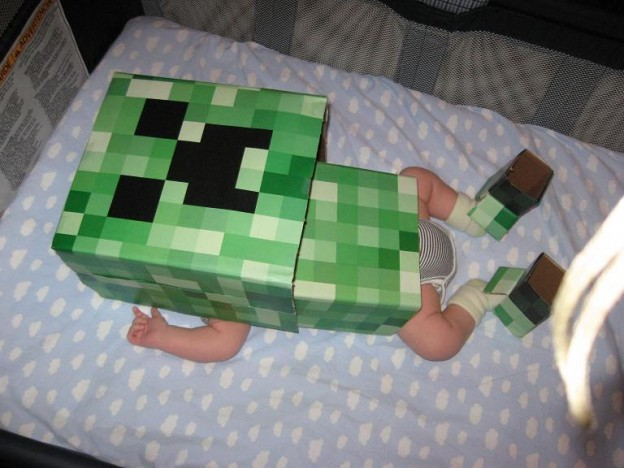 Minecraft Costume-15 Disgusting Kids Halloween Costumes Ever