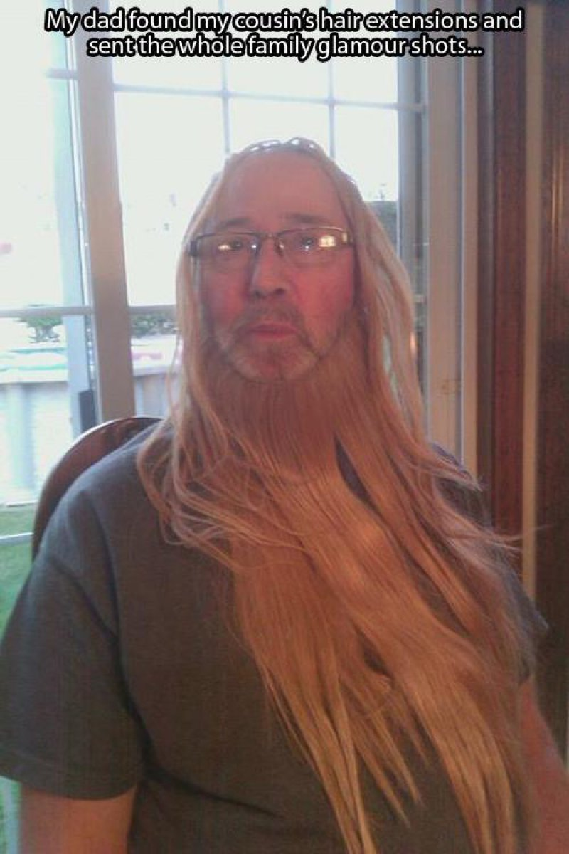 Playing with Hair Extensions-15 Times Parents Showed Their Inner Child