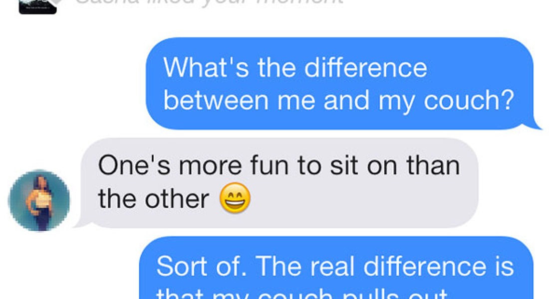 15 Funniest Pickup Lines To Use On Tinder