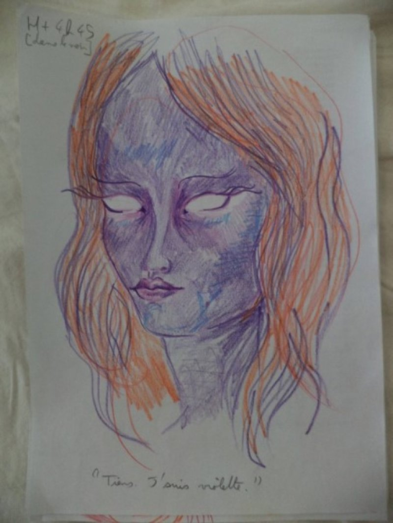 After 4 Hours and 45 Minutes-A Woman Draws Her Self Portraits During Her First Acid Trip