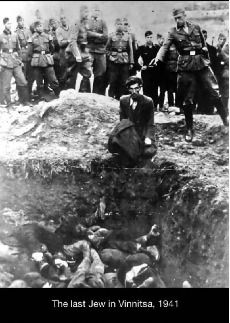 Picture Showing the Last Jew Being Killed in Vinnitsa (Ukraine)-15 Historical Pictures That Are Really Shocking