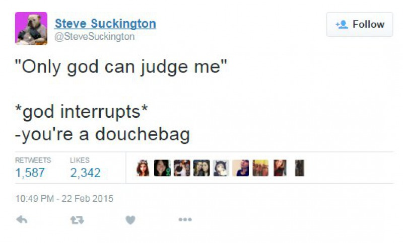 Only God Can Judge Me-15 Tweets About God That Will Make You Laugh