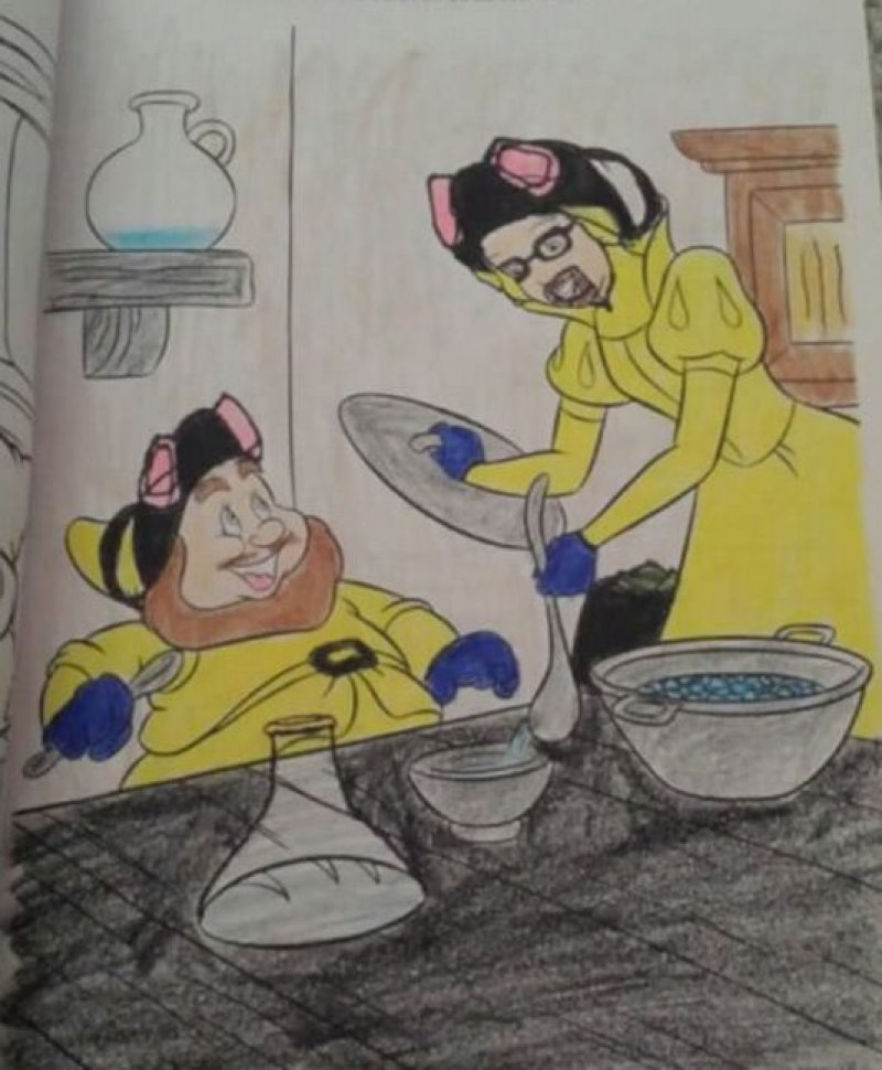 Snow White Became Walter White-15 Drawings That Show Dads Should Stay Away From Children's Coloring Books