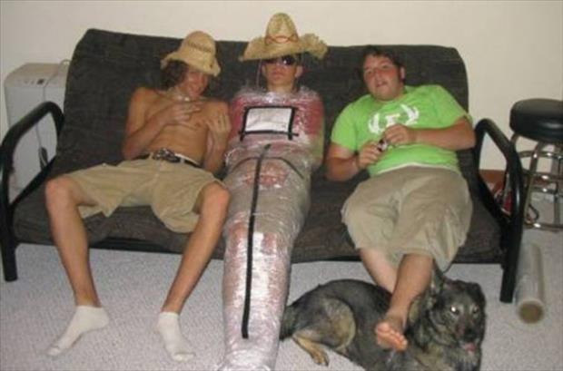 Item Packed, and Ready for Delivery-15 Unfortunate People Who Passed Out First