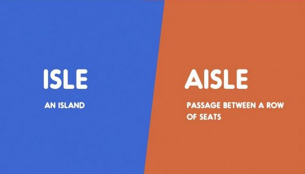 Isle vs. Aisle-15 Words That Sound Similar But Have Different Meaning