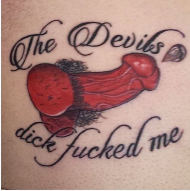 The Devil's Dick-15 Most Inappropriate Tattoos Ever