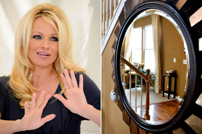 Pamela Anderson – Fear of Mirrors-15 Celebrities With Weird Phobias
