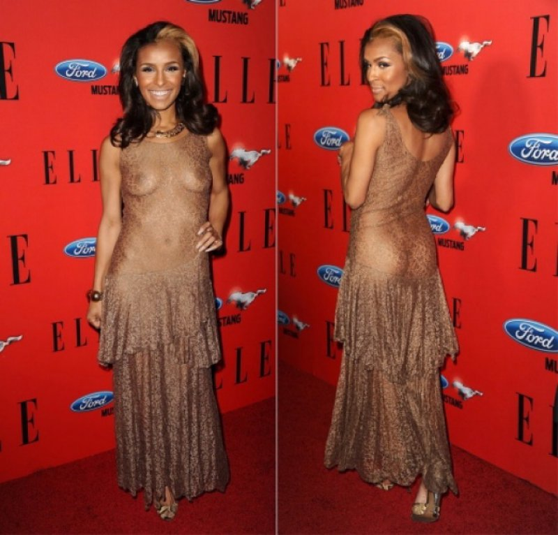 Melody Thornton-12 Celebrities Who Were Spotted Wearing See-Through Clothes