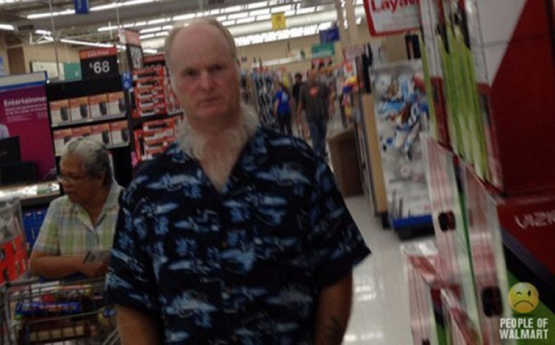 The Old Man and His Bizarre Neck Hair-15 Images That Will Make You Say WTF!