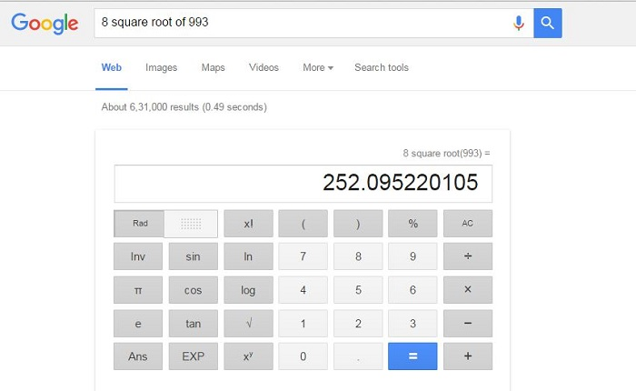 Use as Calculator-15 Google Hacks That Make Your Life Simpler