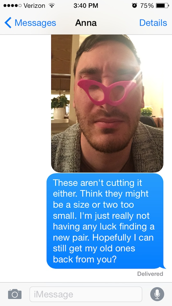 He Got New Sunglasses-Guy Whose Sunglasses Got Stolen After A One Nightstand Texts The Girl For A Year.