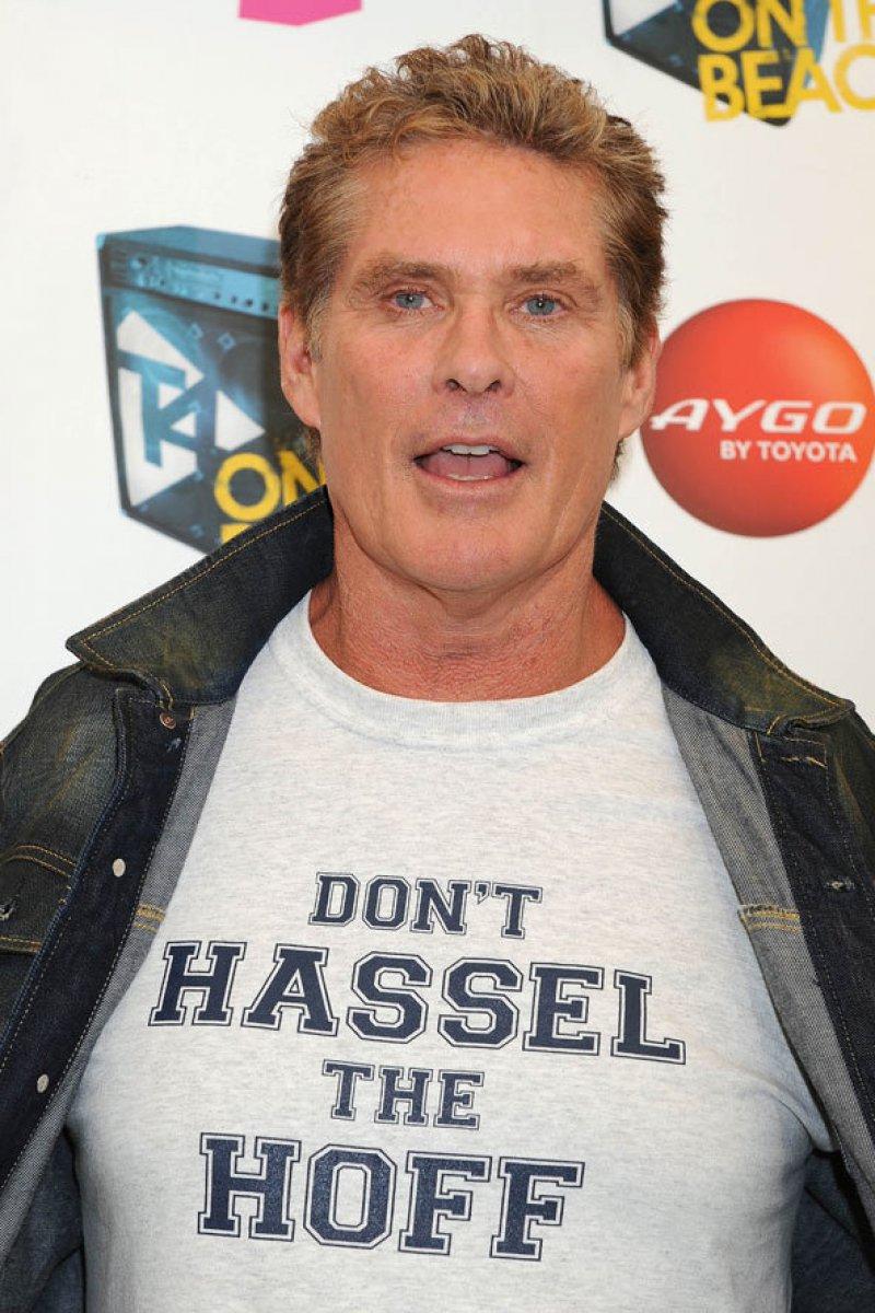 David Hasselhoff-12 Celebrities Wearing Funny T-Shirts