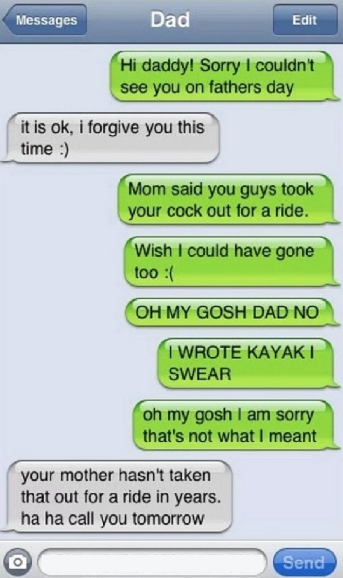 Putting All the Blame on Wife-15 Hilarious Texts From Dads