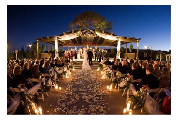 Outside At Night-Awesome Wedding Ideas