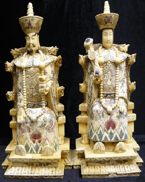 King queen amazing bone carvings