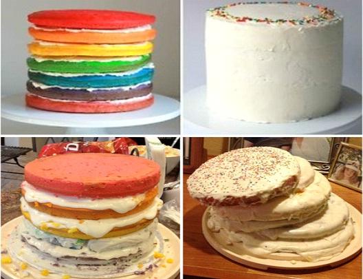 Rainbow Cake Fail-Hilarious Pinterest Fails