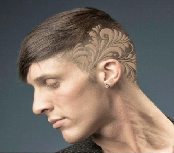 Paisley-Awesome Hair Tattoos