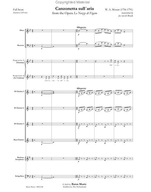 Mozart - Canzonetta Sull'aria-Most Pleasant Music In The World