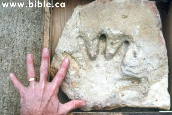 Human handprint-Strange Artifacts That Are Alien