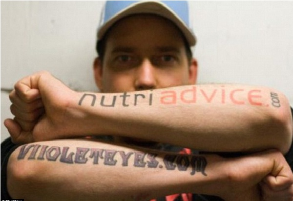 Nutriadvice.com-Disgusting Advertisement Tattoos