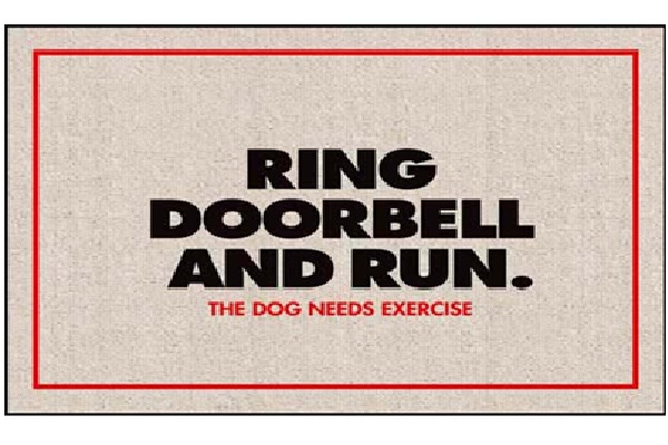 Ring Doorbell and Run-12 Creative And Funny Doormats Ever