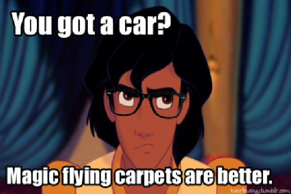 Aladdin-Disney Characters As Hipsters