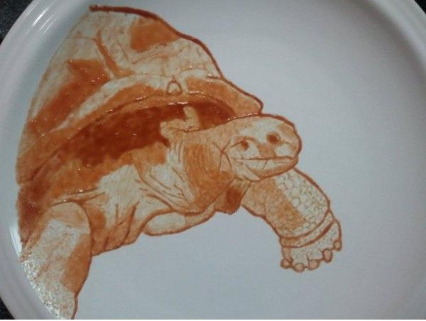 Turtle-Amazing Ketchup Art